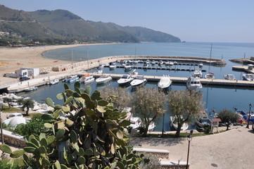 Sperlonga in Italien, Küste des Thyrrhenischen Meeres