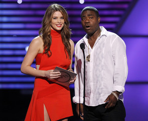 Actress Ashley Greene and comedian Tracy Morgan present an award at the 2010 ESPY Awards in Los Angeles