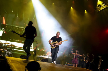 Santos performs during the Rock in Rio Music Festival in Rio de Janeiro