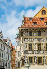 Keuken foto achterwand Theater Путешествие по старинной Праге. Средневековые дома исторического центра города
