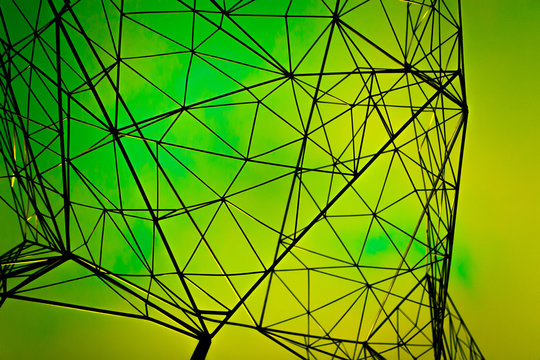 geometry design green abstract background Sci-fi texture