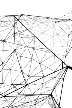 geometry design white abstract background Sci-fi texture