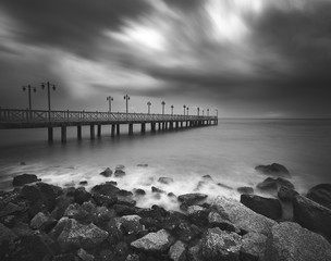 Dramatic clouds was captured at fisherman jetty.