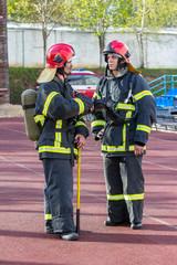 Portrait of a firemans
