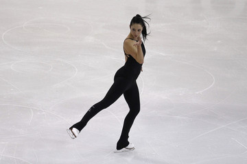 Kaetlyn Osmond of Canada skates during a practice session at the Canadian Figure Skating Championships in Ottawa
