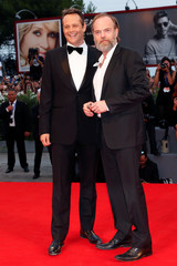 """Actors Vincent Vaughn and Hugo Weaving attend the red carpet for the movie """"Hacksaw Ridge"""" at the 73rd Venice Film Festival in Venice"""