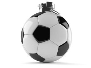 Soccer ball hand grenade concept