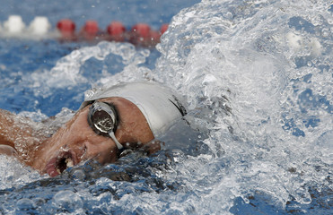 El Salvador's Acosta competes in men's 800 meters freestyle final during Central American Games in San Jose
