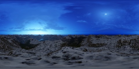 high mountains panorama skybox