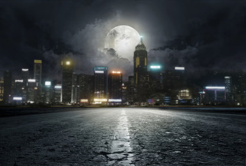 road in the night Wall mural