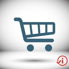 shopping cart icon stock vector illustration flat design