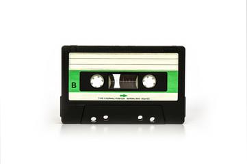 Green audio cassette