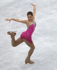 Mirai Nagasu of Japan performs during the women's short programme at the ISU Grand Prix of Figure Skating's NHK Trophy event in Sendai, northern Japan