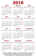 Visitenkarten 2018 Jahreskalender Vorlage
