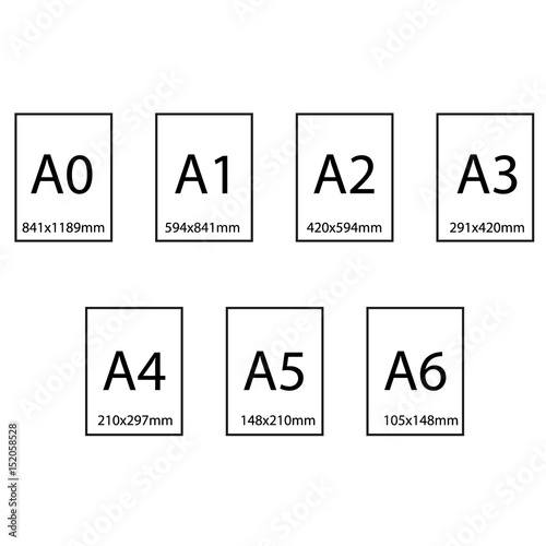 size of series a paper sheets comparison chart from a0 to a10 format