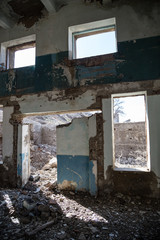 Old abandoned building from the inside