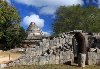 "The ""El Caracol"" observatory temple, Chichen Itza, Mexico"