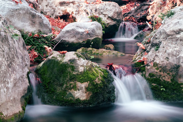 Mountain Creek Rocks and Moss blurred Water