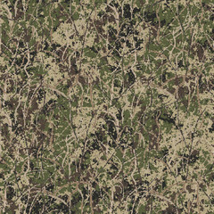 Abstract military or hunting camouflage background. Seamless pattern. Made from geometric square shapes.