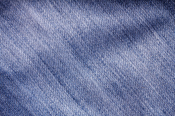 Close up the denim  blue jeans surface with wave texture background