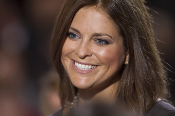 Princess Madeleine of Sweden smiles before an event to commemorate Holocaust victims and survivors in Washington