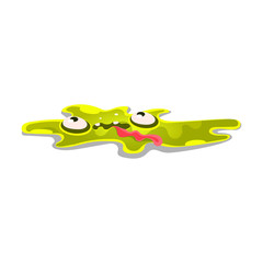 Cute cartoon slick monster. Funny bright jelly character vector Illustration