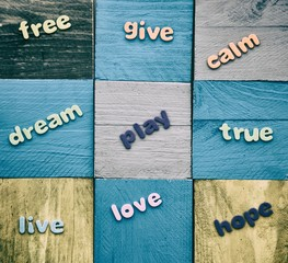 Positive words patchwork