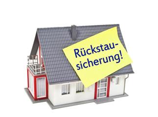 Haus mit Rückstausicherung