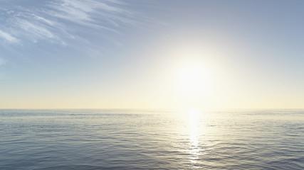 beautiful sunset over calm ocean