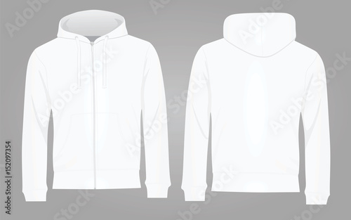 classic styles f4938 febcf men white blank hoodie in front and back ... 5a9241d38