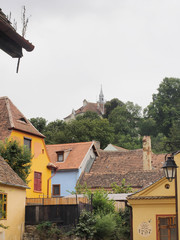 The church on the hill (biserica din deal) seen from the lower side of the Sighisoara citadel