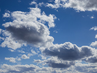 Beautiful day sky in the clouds