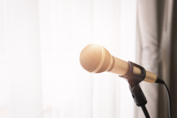 Microphone with bright light from window