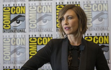 "Cast member Farmiga poses at a press line for ""Bates Motel"" during the 2014 Comic-Con International Convention in San Diego"