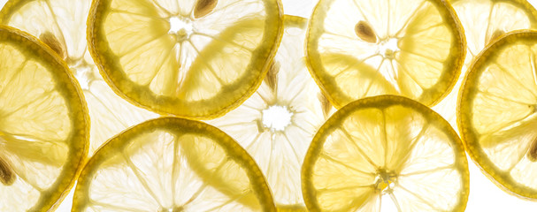 slices of lemon - macro detail
