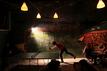 Table tennis is the new hit bar game in Ellato Garden in Budapest