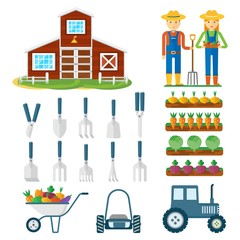 set of farming