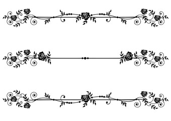 dividers with roses