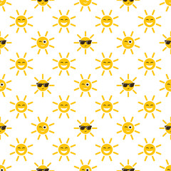 seamless pattern with sun icons