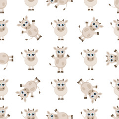 pattern with cute cows