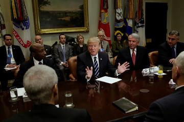 President Donald Trump meets with Pharma industry representatives