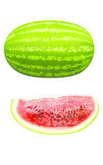 water melon and slice
