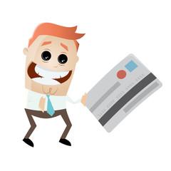 kreditkarte bezahlen banking mann
