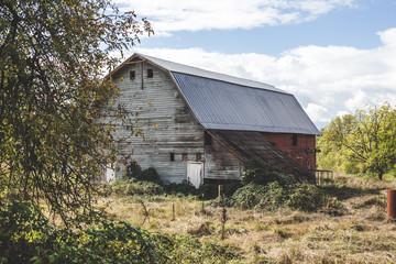 Rustic Barn at an Angle