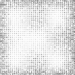 black abstract halftone Characters square backgrounds. symbol Vector illustration