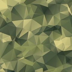 camouflage triangle polygon mosaic background. military polygonal vector illustration. Geometric background in Origami style with gradient.