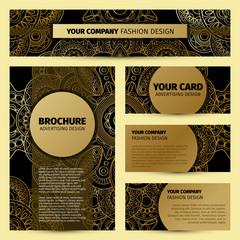 Corporate identity with gold mandala pattern