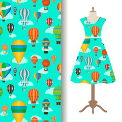 Dress fabric pattern with air ballons