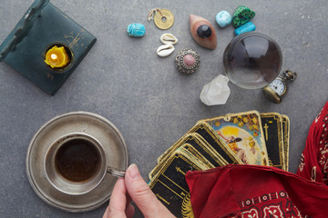 Composition of esoteric objects, used for healing and fortune-telling