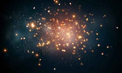 firework sparkles Wall mural